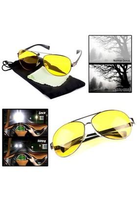 Carda Anti Far Gece Görüş ,Sis Ve Kötü Hava Görüş Gözlüğü (Taşıma Kılıfı & Temizleme Bezi)