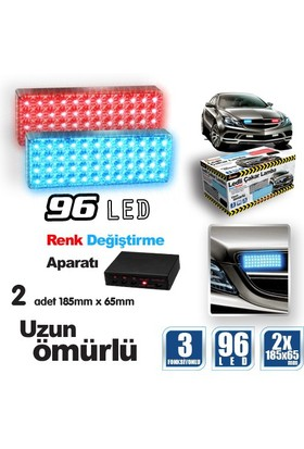 Automix Çakar Lamba 96 Led Mavi&Kırmızı