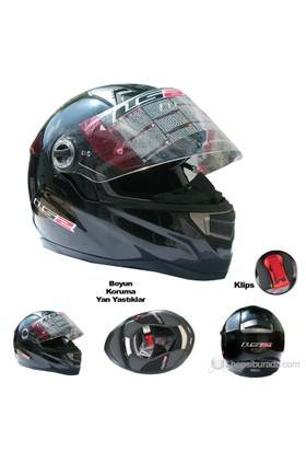 LS2 Motosiklet Kaskı FF396 FT2 Siyah L Beden