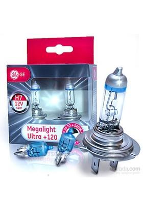 General Electric H7 Megalight Ultra 2'li Ampul Seti- %120 DAHA FAZLA IŞIK