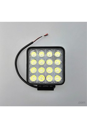 Space Off-Road Sis Lambası / Kare / 16 Power Led 48W12/32V