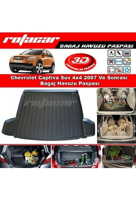 Chevrolet Captiva Suv 4x4 2007 Ve Sonrası Bagaj Havuzu Paspası BG019