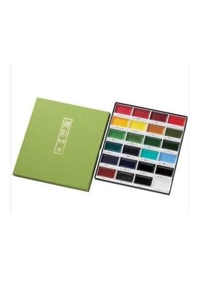 Zig Kuretake Gansai Tambi Profesyonel Japon Sulu Boya Özel Pigment 24 Renk