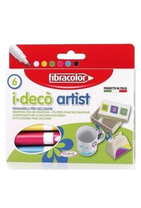 Fibracolor İ-Deco Artist Dekorasyon Kalemi 6 Renk