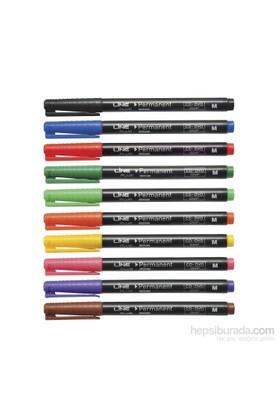 Lineplus 11682 S Uç Asetat Kalemi Kırmızı