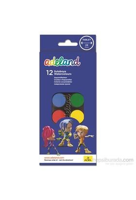 Adeland Suluboya 12 Renk Küçük Boy (24mm)