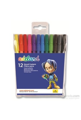 Adeland Keçeli Kalem 12 Renk