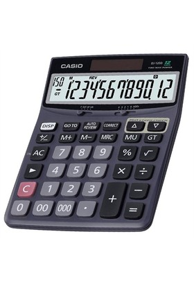 Casio DJ-120D İşlem Kontrollü 12 Hane Hesap Makinesi