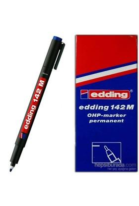 Edding 142M Permanent Kalem Cam Cd Asetat Siyah 10 Lu Paket