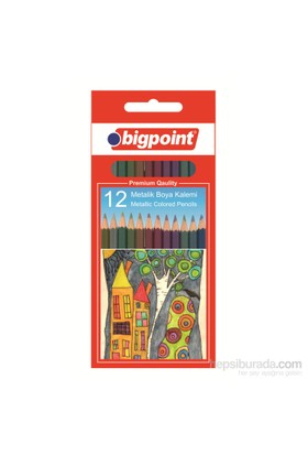Bigpoint 944 Metalik Boya Kalemi 12 Renk Bp944