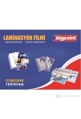 Bigpoint Laminasyon Filmi 78X102 125 Micron