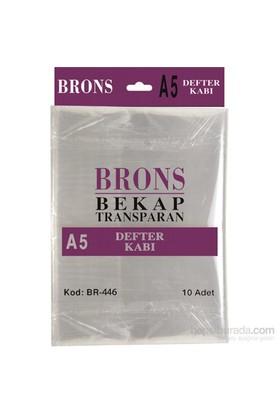 Brons Br-446 Hazır Defter Kabı A5 Şeffaf 10 'lu Set
