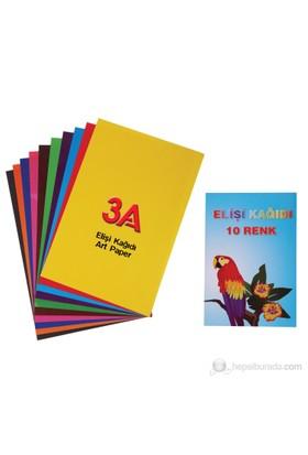 3A Elişi kağıdı 10'lu Dosyalı (Karışık Renk)