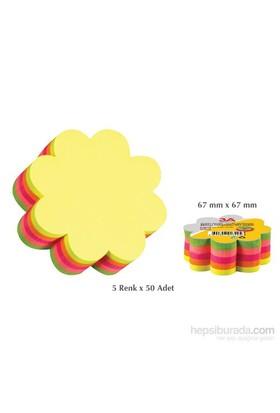 3A Yapışkanlı Kağıt Çiçek 5 Renk x 50 Adet