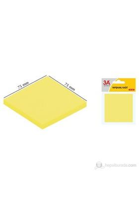 3A Yapışkanlı Kağıt Neon Sarı 75 x 75 mm (100 Adet)