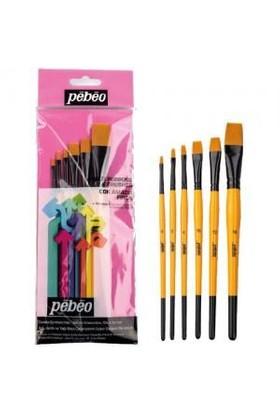 Pebeo Fırça Seti Düz Kesik Kısa Saplı Set-3