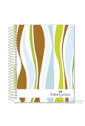 Faber-Castell Sert Kapak Sep.3+1 Dalgalar Defter 80gr 160 Yaprak (5075400407)