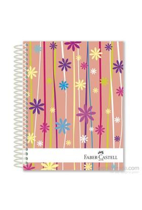 Faber-Castell Sert Kapak Sep.4+1 Çiçekler Defter 80gr 200 Yaprak (5075400508)