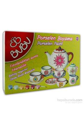 Bu-Bu Porselen Boyama Çay Seti 13 Parça Kelebek Bubu-Pb0001
