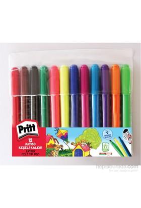 Pritt Jumbo Yuvarlak Uç Keçeli Kalem - 12 Renk