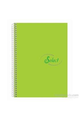 Notte 60107 Select Yeşil Plastik Kapak Spiralli A4 160 Yaprak Çizgili