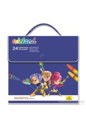 Adeland Çantalı Pastel Boya 24 Renk