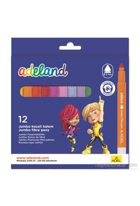 Adeland Jumbo Keçeli Kalem 12 Renk