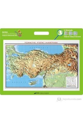35x50 Kabartma Türkiye Fiziki Haritası