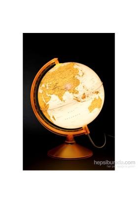 Gürbüz Işıklı Dünya Küresi 26cm (Turuncu)