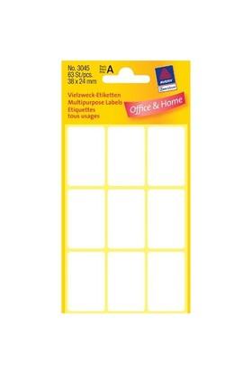 Avery 38 x 24 mm Beyaz Dikdörtgen Etiket 63 Adet / Paket