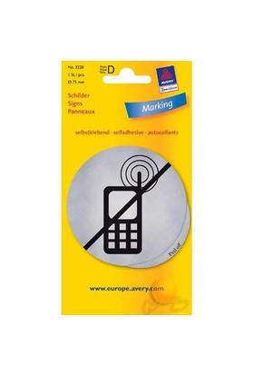 Avery Cep Telefonu Kullanılmaz Etiketi Gümüş 1 Adet eol