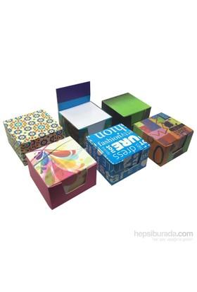 3A Karton Kutulu Küp Not Kağıdı (Küp Bloknot) (80x80x50 mm)