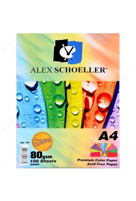 Alex Fotokopi Kağıdı A4 10 Renk 100 Lü Alx-779