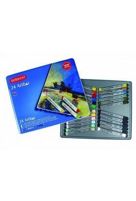 Derwent Artbar Suyla Çözünebilir Wax Pastel 24 Renk