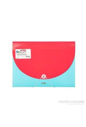 Bigpoint Körüklü Dosya 13 Cepli A4 Pop Mavi - Kırmızı