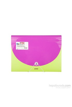 Bigpoint Mor - Yeşil Körüklü Dosya 13 Cepli A4 Pop