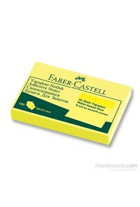 Faber-Castell Yapışkan Notluk 50x75mm Sarı