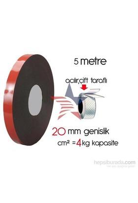 HomeCare Akrilik Çift Taraflı Bant 2 cm x 5 Mt cm2=4 kg