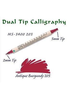Zig Calligraphy Pen Çift Uçlu Kaligrafi Kalemi 2 Mm - 5 Mm Antique Burgundy