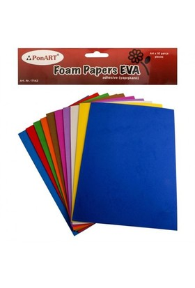 Ponart 10 Renk 2 Mm Yapışkanlı Eva