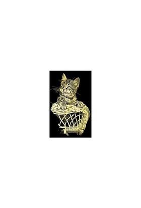 Reeves Altın Gravür Kazıma Seti - Kedi - 180X110mm