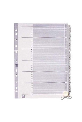 Esselte Separatör A4 1-31 Rakam Gri 100108