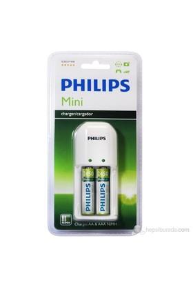 Philips SCB1292NB Pil Şarj Cihazı + 2'Li 2450 Mah Şarj Edilebilir Pil Hediyeli