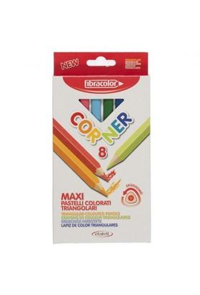 Fibracolor Corner Maxi 8'Li Kalın Üçgen Kuruboya