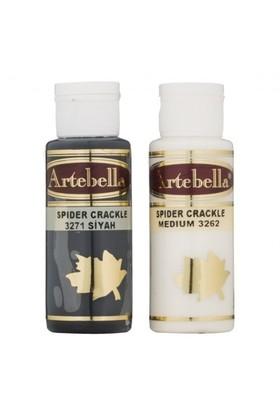 Artebella Örümcek Çatlatma Siyah 70 Cc Medium + 70 Cc Vernik - 3271