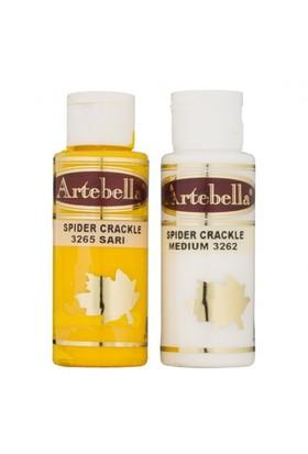 Artebella Örümcek Çatlatma Sarı 70 Cc Medium + 70 Cc Vernik - 3265