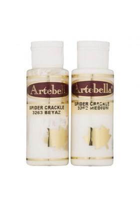Artebella Örümcek Çatlatma Beyaz 70 Cc Medium + 70 Cc Vernik - 3263