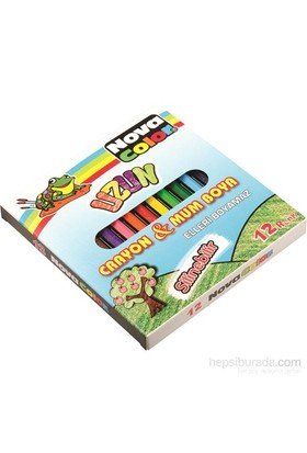 Nova Color Nc-2112 Silinebilir Mum Pastel Boya 12 Renk