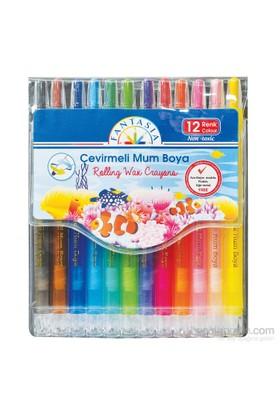 Temat Fantasıa 159173 Çevirmeli Mum Boya 12 Renk