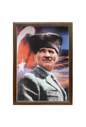 Akyazı 35x50 Atatürk Posteri-4 (Mdf Çerçeve)